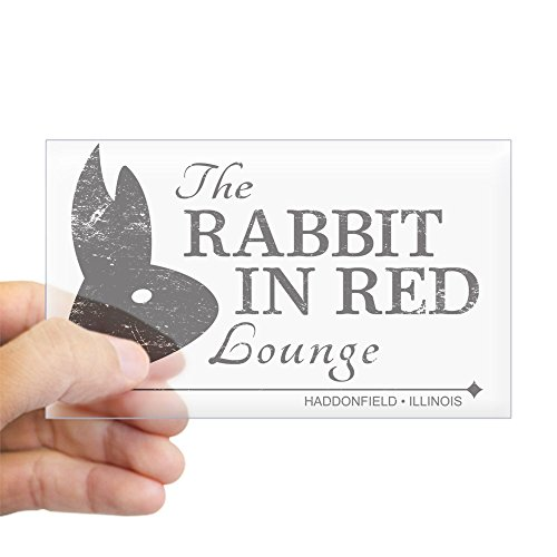 CafePress Rabbit in Red Lounge Rectangle Bumper Sticker Car -