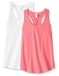 Clementine Apparel womens petite-plus-size Ideal Racerback Tank Tops (Pack of 2)