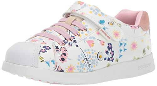 pediped Girls' Jake Sneaker White Floral 31 Child EU Big Kid (13-13.5 -