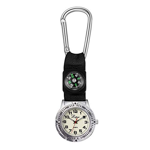 chenqiu Portable Sports Watch, Multi Function Compass Watch ,Men's Digital Sports Watch Waterproof Watch with LED Backlight