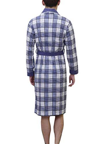 Hombres Camisón Bobolily Blue3 Con Especial Verano Estilo Albornoz Ropa Casa Cómoda Pijama De Los Algodón Cinturón p0tFgq0