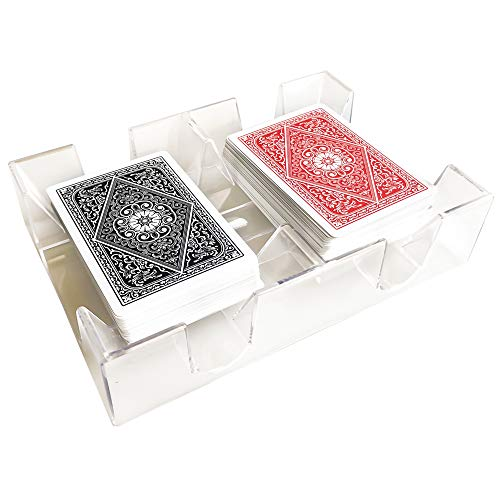 - YH Poker Clear 2 Deck Canasta Playing Card Tray
