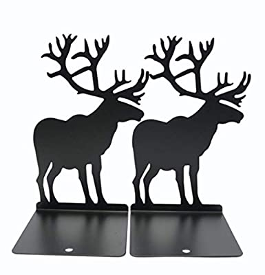 leoyoubei Steel Book Racks animal Art bookends Desk Accessories & Workspace Organizers, Kids bedroom Or playroom, office or gift -small books, CD and DVD,Book Organizer Non-slip 1 pairs