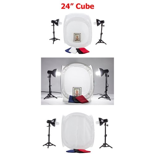 Fovitec StudioPRO Product Photography Cube White Table Top Cube Lighting Tent Kit, 20'' by Fovitec (Image #1)