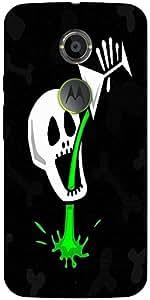 Snoogg Skull Drinking Poison 2787 Designer Protective Back Case Cover For Mot...