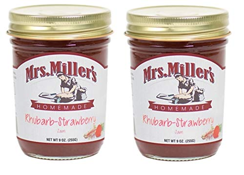 - Mrs. Millers Rhubarb-Strawberry Jam 9 oz. (2 Jars)