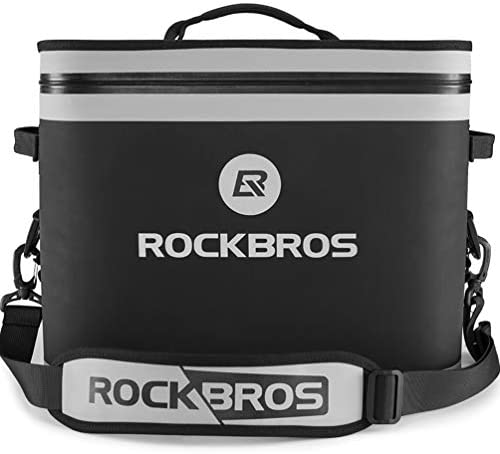 ROCKBROS Soft Cooler 30 Can Insulated Leak Proof Soft Pack Coolers Waterproof Soft Sided Cooler Bag for Camping, Fishing, Road Beach Trip, Golf, Picnics