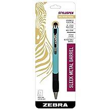Zebra Pen 2-in-1 Universal Touchscreen Stylus Pen, 1-Pack, Light blue