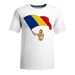 Brasil 2014 FIFA World Cup Short Sleeve T-shirt,Penalty Kick Background Mens Cotton shirts navy