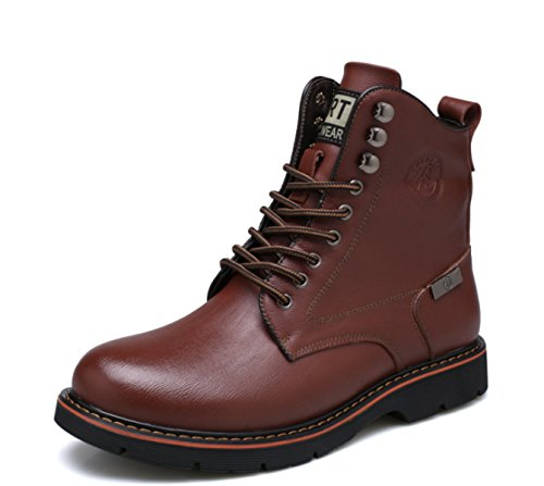 Men's Martin Boots Genuine Leather Casual Business Shoes Sports Military Tactical Footwear Trekking Hiking Brown 0UfcuRkV