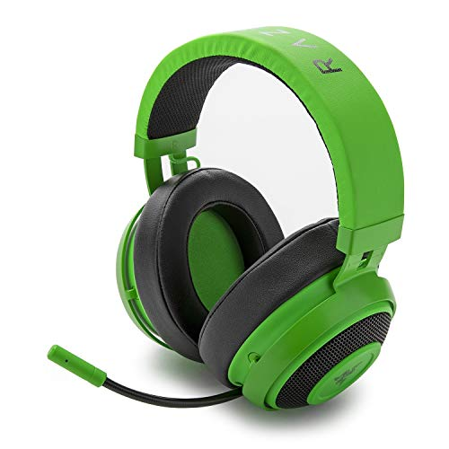 Razer Kraken Pro V2 Analog Gaming Headset with Retractable Microphone for PC, Xbox One and Playstation 4, Green (Renewed)