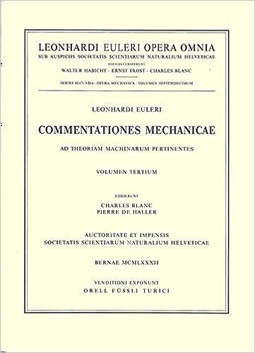 Commentationes mechanicae et astronomicae ad physicam pertinentes (Leonhard Euler, Opera Omnia)