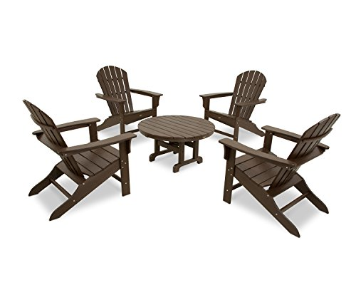 Trex Outdoor Furniture by Polywood 5-Piece Cape Cod Adirondack Conversation Group, Vintage - Patio Lantern Cape Cod