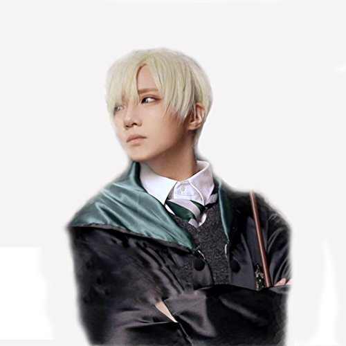 Draco Malfoy Wig Golden Wig Costume Props HP Cosplay Xcoser