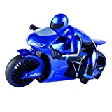 Homyl 1:16 Scale Children's Toy Simulated Model 2.4G High Speed Drift Remote Control Motorcycle Toy Gift for Boys Blue