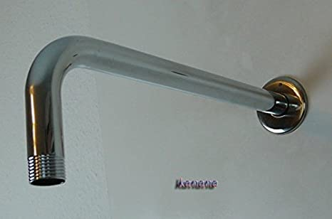 Brazo Alimentaci/ón Brazo Pared Metal Cromado para Alcachofa de Ducha 20cm L