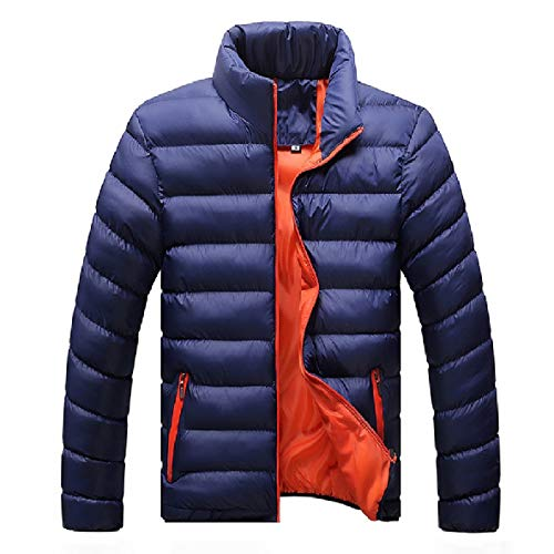 Fitted Winter AS3 Down up Mens Outwear Stand Thick XINHEO Zip Collar Jackets 5AwOqqX