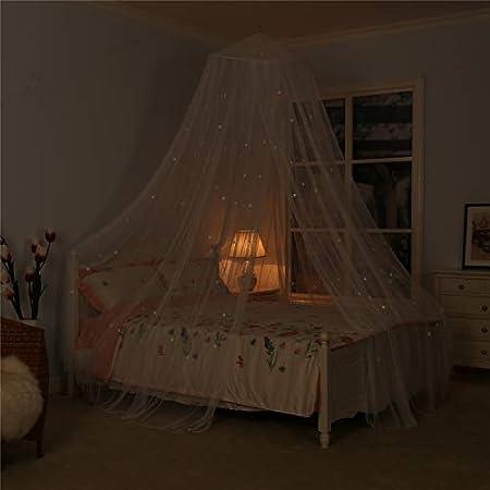 Amazon.com: Toldo de cama con estrellas fluorescentes que ...
