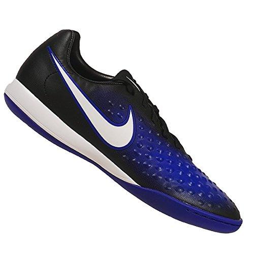 Nike Jungen 844422-015 Hallenfußballschuhe BLACK/WHITE-PRMNT BL