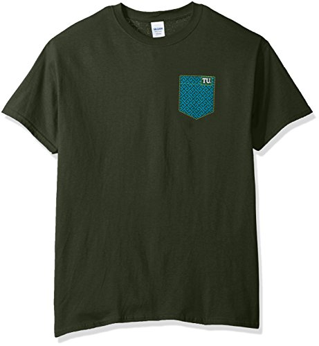 (New World Graphics NCAA Tulane Green Wave Faux Pocket Short Sleeve, XX-Large, Forest Green)