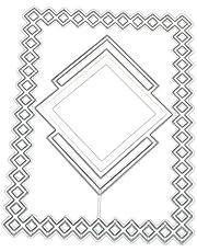 SHURROW Omrandde DIY Metalen Stanssjabloon Scrapbooking Stansen Papier Kaarten Decor