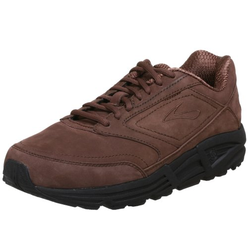 Suede Lace Up Walking Shoes - Brooks Men's Addiction, Brown Suede, 12 4E - Extra Wide