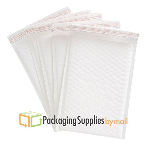 6'' x 10'' WHITE POLY BUBBLE MAILERS PADDED ENVELOPES BAGS #0 by PackagingSuppliesByMail (2000 PCS) by PackagingSuppliesByMail
