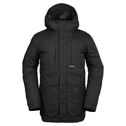 Volcom Men's Fifty 2 Layer Shell Snow Jacket, Black, Large