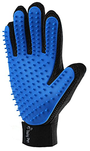 Premium Pet Hair Remover Glove - Deshedding Tool - Easy Hair Removal Technology - Perfect for Cats and Dogs with Short and Long Hair