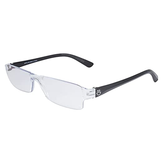 9f7183cef16 Rimless Computer Reading Glasses With Half Frame - Blue Light Blocking  Lenses With Anti Reflective and