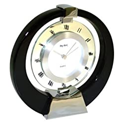 Bey-Berk International Revolving Dial Face Mantel Clock