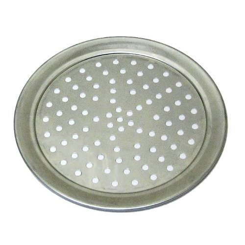 Allied Metal TP18 18-Inch Hard Aluminum Traditional Wide Rim Style Perforated Pizza Tray