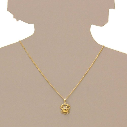 In Collections - 1001100531100 - Collier avec pendentif Mixte - Signe astrologique - Cancer - Or jaune 333/1000 (8 Cts) 2.00 Gr