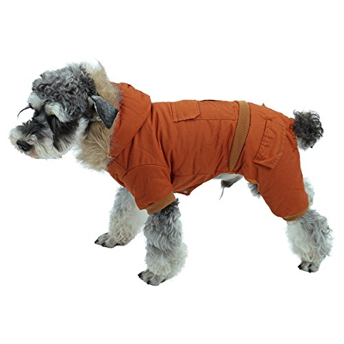 PAWZ Road Pet Clothes Hoodie Dog Winter Coat Warm Jacket Super Warm and Strong Orange S by PAWZ Road (Image #1)
