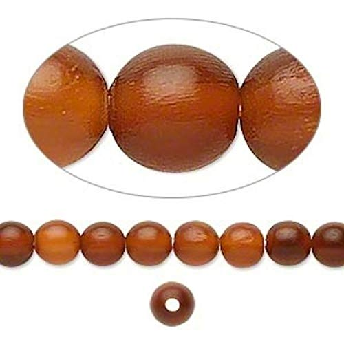 1 Strand Golden Horn Natural 6Mm Round Beads