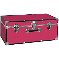 Seward Trunk College Dorm and Camp Storage Footlocker Trunk, Pink, 30-Inch (SWD5120-30)