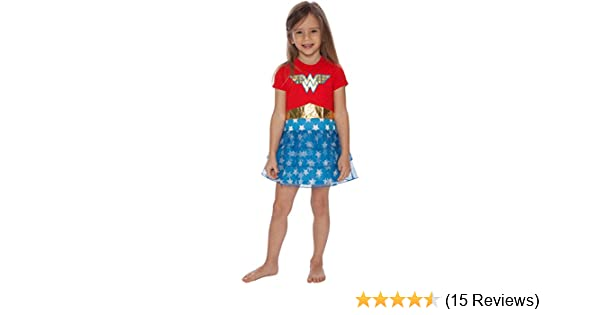 Amazon.com: DC Comics Girls Wonder Woman Costume Logo Pajama Nightgown: Clothing