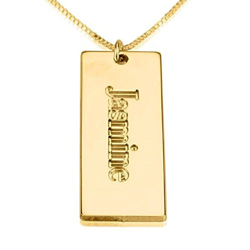 Personalized Custom 24K Gold Plated Nameplate Pendant Jewelry (18)