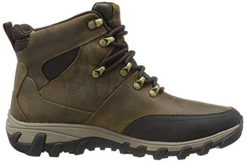 Koude Winterveren Rockport Mens Plus Spatlaarzen Sneeuwlaars Medium Bruin Leer