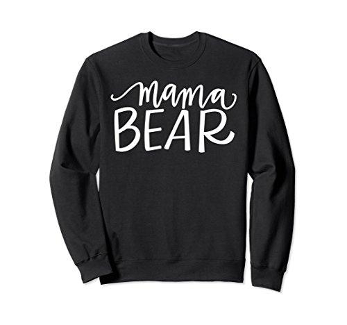 Unisex Mama Bear Unisex Crew Neck Sweatshirt 2XL (Black Bear T-shirt Sweatshirt)