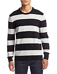 "<span class=""a-offscreen"">[Sponsored]</span>Men's Rugby Stripe Crew Neck Sweater"