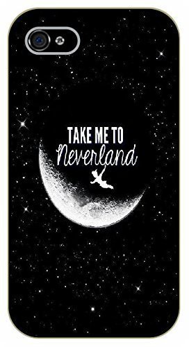 iPhone 5 / 5s Take me to neverland - black plastic case / Inspirational and motivational, Peter, Pan