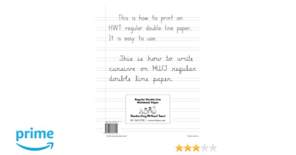 Amazon.com: Handwriting Without Tears Double-Lined Notebook Paper ...