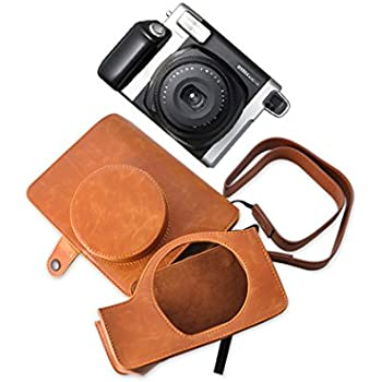 8826a6f125c3 Ace Select Retro PU Leather Camera Case Bag for Fujifilm INSTAX WIDE 300 Instant  Camera with Free Shoulder Strap - Brown