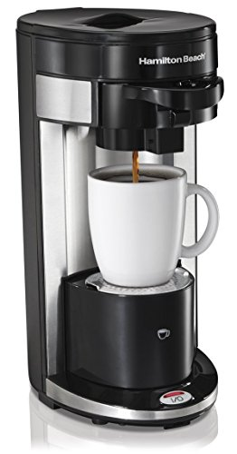 Hamilton Beach FlexBrew Stainless Steel Black Single Serve Coffee Maker — 2 per case.