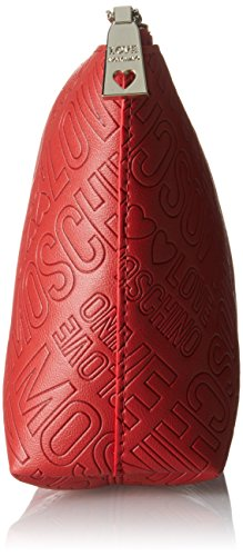 Love Moschino - Bustina Embossed Pu Rosso, Carteras de mano Mujer, Rot (Red), 14x24x7 cm (B x H T)