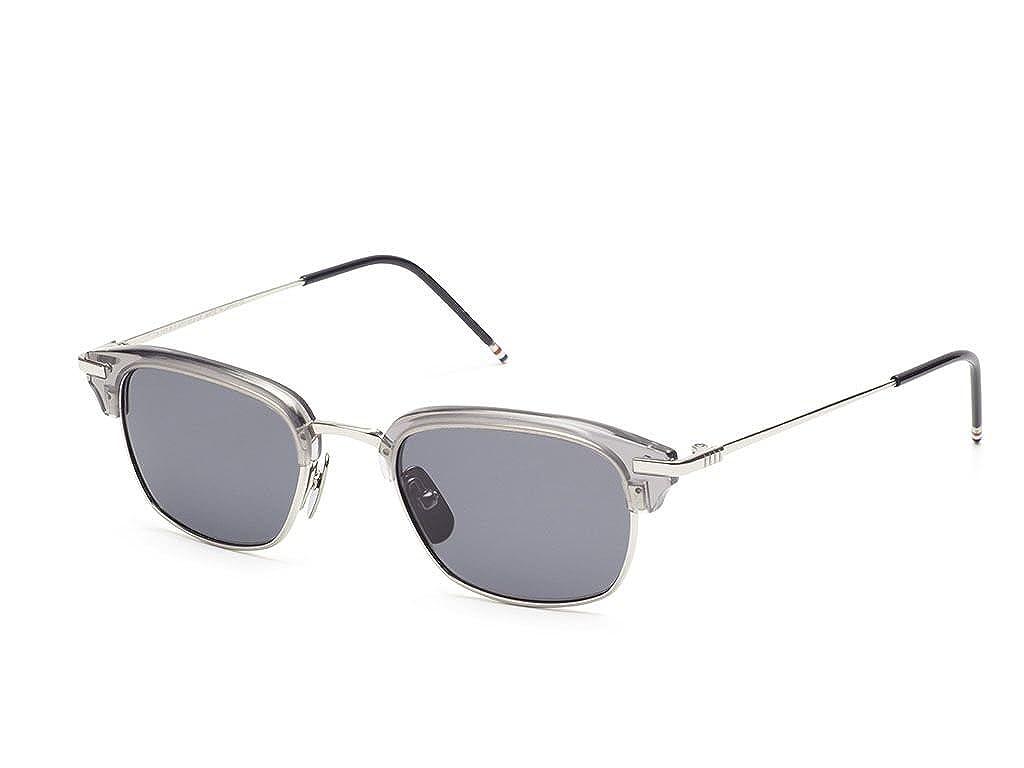 8806a266350 THOM BROWNE TB 707 B-T-GRY-SLV Satin Crystal GreyShiny Silver w  Dark  Sunglasses