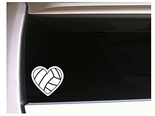 Heart Volleyball Decal Vinyl Sticker 5.5 *L39 Volley Ball Car Wall Laptop Athlete Female Girl Shoes Uniform by DesignsThatStick B015DJADOK  - -