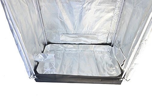 """418wKkhZBDL - Smart Indoor Grow Tent 43""""x25""""x48"""" 600D Heavy Duty High Mylar Waterproof Grow Room for Indoor Plant Growing 4'x4'"""