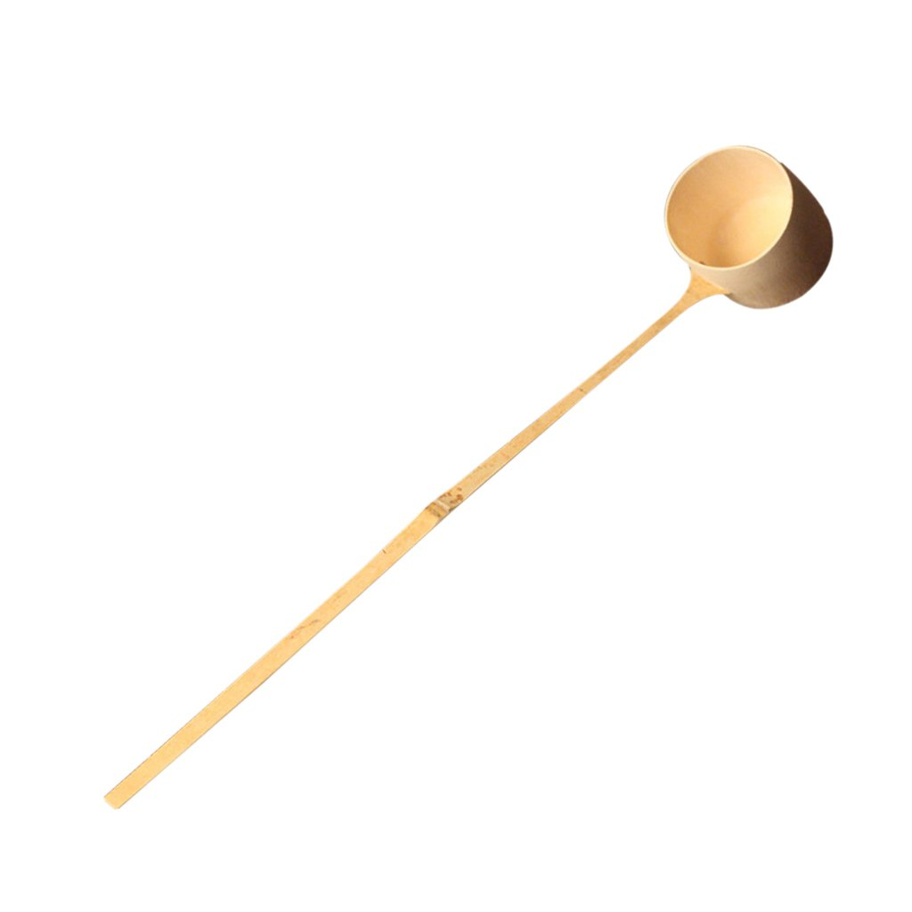 Homyl Durable Water Dipper Water Ladle with Long Handle Japanese Tea Ceremony Supplies Natural Bamboo, 2 Sizes PICK - Light Brown, L